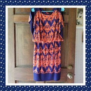 Dresses & Skirts - Ladie's Signature 14P Orange/Blue Blouson Dress